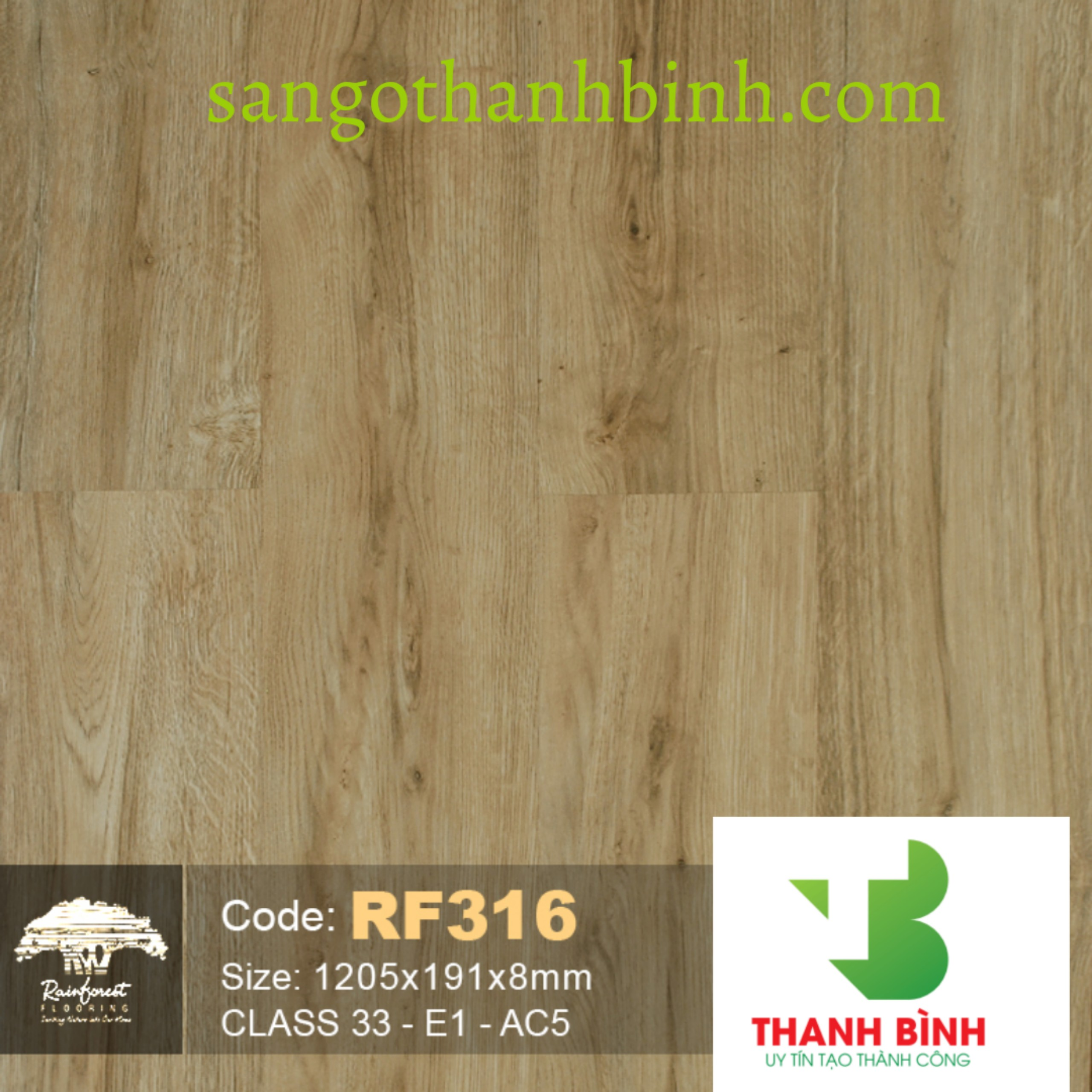 Sàn gỗ RainForest 8mm rf 316